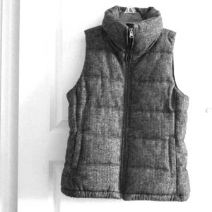 Old navy herringbone wool blend vest